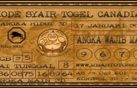 Syair Togel Canadia 17 Januari 2020