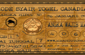 Syair Togel Canadia 26 Januari 2020