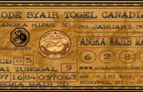 Syair Togel Canadia 28 Januari 2020