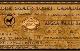 Syair Togel Canadia 18 Januari 2020