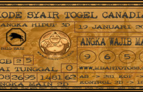 Syair Togel Canadia 19 Januari 2020