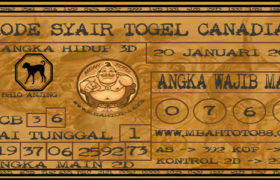 Syair Togel Canadia 20 Januari 2020