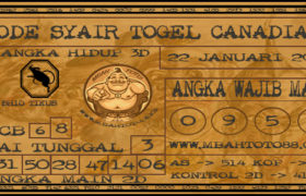 Syair Togel Canadia 22 Januari 2020