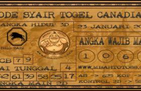 Syair Togel Canadia 23 Januari 2020