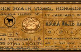 Syair Togel Hongkong 17 Januari 2020