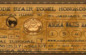 Syair Togel Hongkong 20 Januari 2020