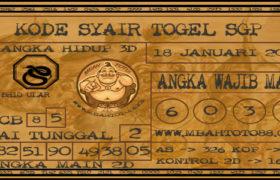 Syair Togel Singapura 18 Januari 2020