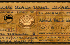 Syair Togel Israel 16 Januari 2020