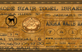 Syair Togel Israel 25 Januari 2020