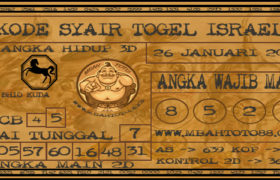 Syair Togel Israel 26 Januari 2020