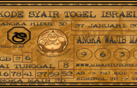 Syair Togel Israel 27 Januari 2020