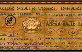 Syair Togel Israel 18 Januari 2020