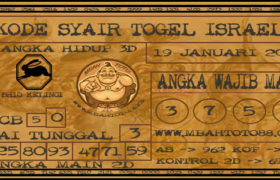 Syair Togel Israel 19 Januari 2020