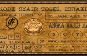 Syair Togel Israel 21 Januari 2020