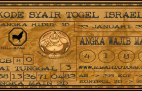 Syair Togel Israel 22 Januari 2020