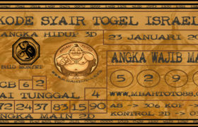 Syair Togel Israel 23 Januari 2020