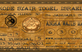 Syair Togel Israel 24 Januari 2020