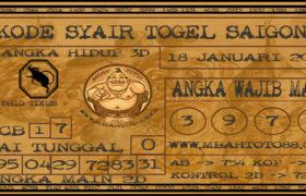 Syair Togel Saigon 18 Januari 2020