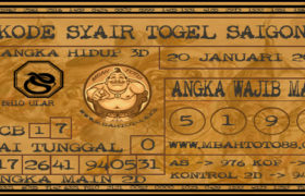 Syair Togel Saigon 20 Januari 2020