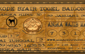 Syair Togel Saigon 22 Januari 2020