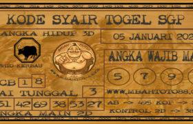 Syair Togel Singapura 05 Januari 2020