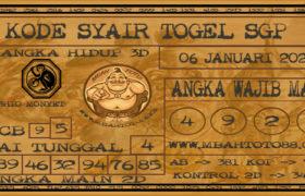 Syair Togel Singapura 06 Januari 2020