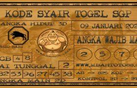 Syair Togel Singapura 09 Januari 2020