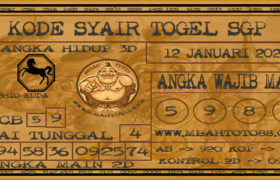 Syair Togel Singapura 12 Januari 2020