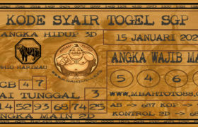 Syair Togel Singapura 15 Januari 2020