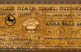 Syair Togel Sydney 16 Januari 2020