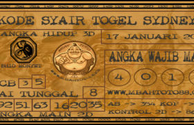 Syair Togel Sydney 17 Januari 2020