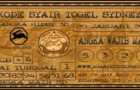 Syair Togel Sydney 20 Januari 2020