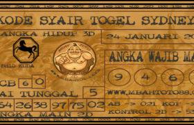 Syair Togel Sydney 24 Januari 2020