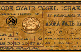 Syair Togel Israel 17 Februari 2020