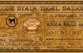 Syair Togel Saigon 15 Februari 2020