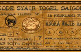 Syair Togel Saigon 16 Februari 2020
