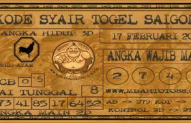 Syair Togel Saigon 17 Februari 2020