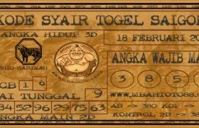 Syair Togel Saigon 18 Februari 2020