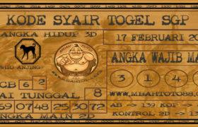 Syair Togel Singapura 17 Februari 2020