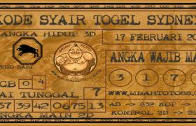 Syair Togel Sydney 17 Februari 2020