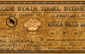 Syair Togel Sydney 18 Februari 2020