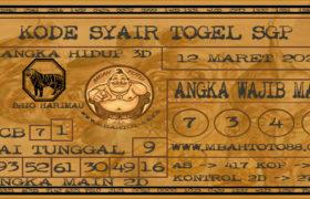Syair Togel Singapura 12 Maret 2020