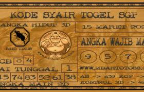 Syair Togel Singapura 15 Maret 2020