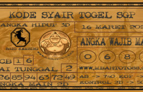 Syair Togel Singapura 16 Maret 2020
