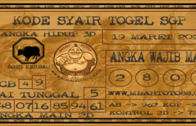 Syair Togel Singapura 19 Maret 2020