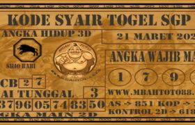 Syair Togel Singapura 21 Maret 2020