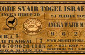 Syair Togel Israel 21 Maret 2020