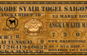 Syair Togel Saigon 23 Maret 2020