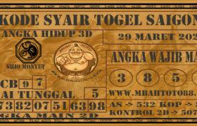 Syair Togel Saigon 29 Maret 2020