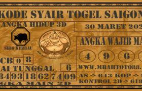 Syair Togel Saigon 30 Maret 2020